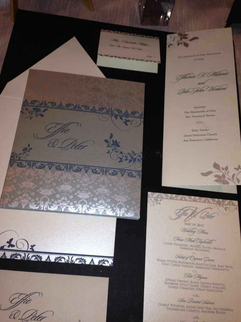 Hyegraph's Wedding Invitations and Save the Dates at Ritz-Calton San Francisco