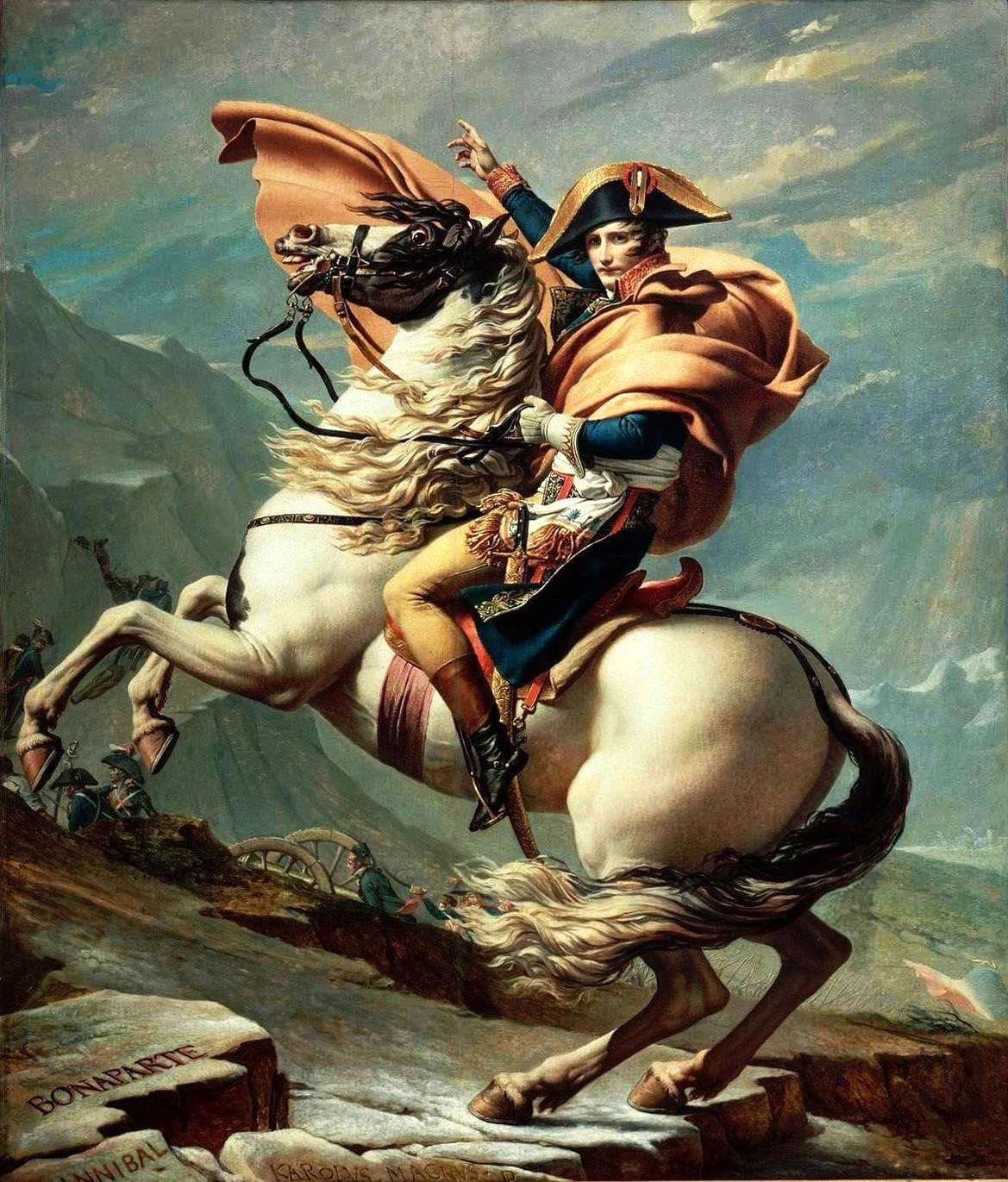 Napoleon on horseback