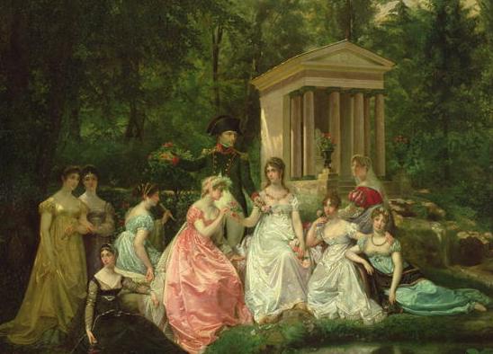 jos and ladies in garden
